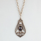 FULL TILT 2 Row Medallion Necklace