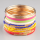FULL TILT 16 Piece Multi/Seed Bead Bangles