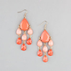 FULL TILT Facet Bead Dangle Earrings