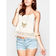 BLU PEPPER Crochet Trim Womens Cami