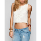 BLU PEPPER Crochet Overlay Womens Crop Tank