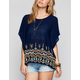 BLU PEPPER Embroidered Womens Tunic
