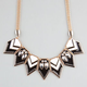 FULL TILT Chevron Triangle Statement Necklace