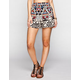 ANGIE Ethnic Print Womens Smock Waist Shorts
