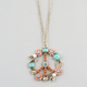 FULL TILT Flower Peace Necklace