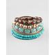 FULL TILT 9 Piece Seed/Wood Bead Bracelets