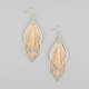 FULL TILT Dreamcatcher Leaf Dangle Earrings