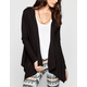 ELAN Womens Hooded Wrap Sweater