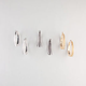 FULL TILT 3 Pairs Diamond Dust Hoop Earrings