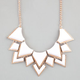 FULL TILT Facet Triangle Statement Necklace