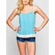 FULL TILT Essential Womens Crochet Trim Cami