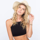 Belt Band Womens Straw Panama Hat