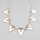 FULL TILT Ivory Triangle Statement Necklace