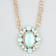 FULL TILT Oval Turquoise Necklace