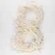 Lurex Fringe Link Knit Infinity Scarf