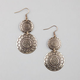 FULL TILT 2 Tiered Round Stamp Earrings