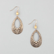 FULL TILT Ice Bead Filigree Teardrop Earrings