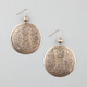 FULL TILT Textured Medallion Earrings