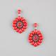 FULL TILT Facet Bead Circle Drop Earrings
