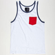 BLUE CROWN Tri Color Mens Pocket Tank