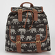 Ethnic Elephant Print Backpack