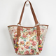 Floral Crochet Trim Tote Bag