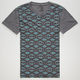 BLUE CROWN Tribal Print Mens T-Shirt