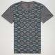 BLUE CROWN Tribal Print Mens T-Shirt