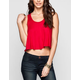 FULL TILT Womens Racerback Crop Tank