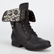 DIVA LOUNGE Jetta Womens Military Boots