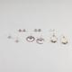 FULL TILT 6 Pairs Hoop/Donut Earrings