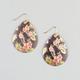 FULL TILT Hawaiian Print Shimmer Shell Earrings