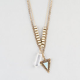 FULL TILT 2 Row Crystal/Arrow Necklace