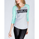 HURLEY Barred Womens Baseball Tee