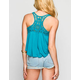 FULL TILT Crochet Racerback Womens Swing Tank