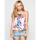 FULL TILT Tropical Print Womens T Back Swing Tank