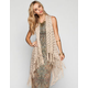 FULL TILT Open Weave Womens Fringe Waterfall Vest