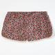 FULL TILT Ditsy Print Girls Crochet Trim Shorts