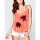FULL TILT Palm Tree Crochet Back Tank