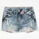 HIPPIE LAUNDRY Star Print Girls Denim Cutoff Shorts