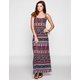 FULL TILT Border Stripe Maxi Dress