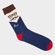 BLUE CROWN Mustache Face Mens Crew Socks
