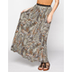 LILY WHITE Tribal Print Maxi Skirt