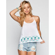 CHLOE K Embroidered Womens T Back Tank