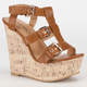 DIVA LOUNGE Chic Womens Gladiator Wedges