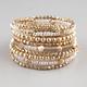 FULL TILT 9 Piece Bead/Coil Bracelets