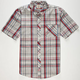 VOLCOM Weirdoh Plaid Mens Shirt