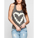 FULL TILT Daisy Heart Womens Tank