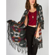 RAJ Ethnic Fringe Womens Blanket Sweater