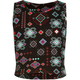 FULL TILT Ethnic Print Girls Fitted Crop Top